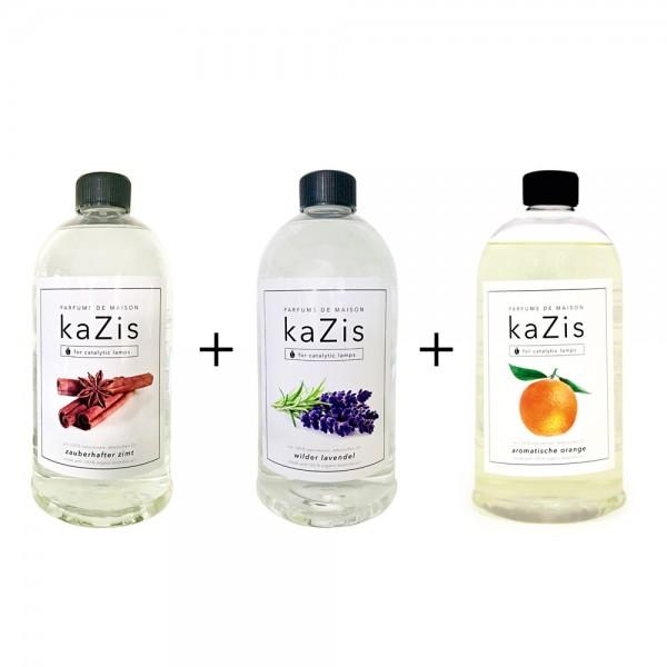 Zauberhafter Zimt + Wilder Lavendel + Aromatische Orange